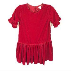 Gymboree velvet red Christmas dress girls 10